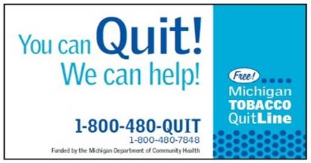 links michigan department of community health quit tobacco tools and resources